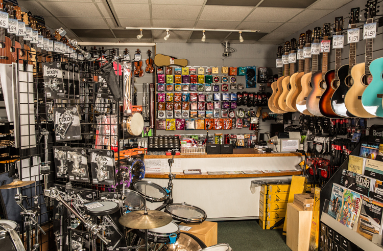 Strum and Bass Shop Interior