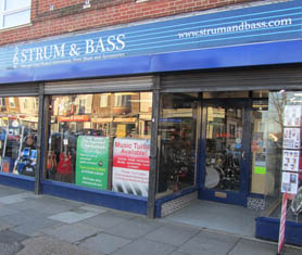 Strum and Bass Shop Front